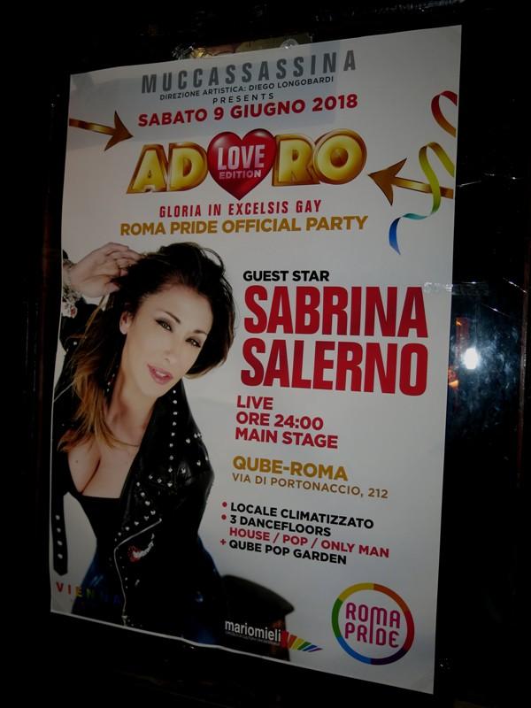 Sabrina Salerno pride 2018