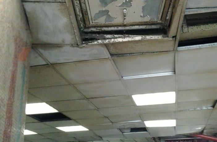 tetto pericolante metro