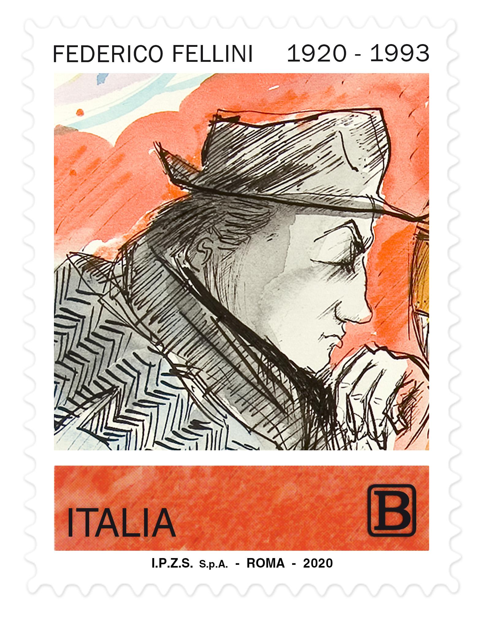 fellini francobollo