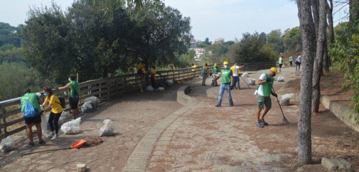 Si è appena conclusa la grande giornata di pulizia del Parco di Monte Mario